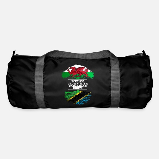 Tanzania Bags & Backpacks - Welsh Grown With Tanzanian Roots - Duffle Bag black