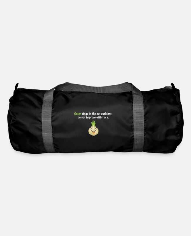 Onions Bags & Backpacks - Onion Rings In The Car Cushions Vegetable Shirt - Duffle Bag black