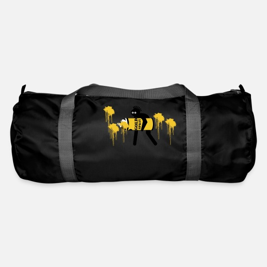 Gold Bags & Backpacks - gold spray - Duffle Bag black