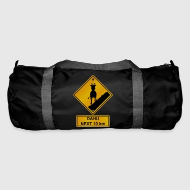 Roadsign Danger roadsign crossing dahu 2 - Duffel Bag