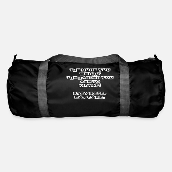 Funny Sayings Bags & Backpacks - funny saying sayings funny funny funny humor - Duffle Bag black