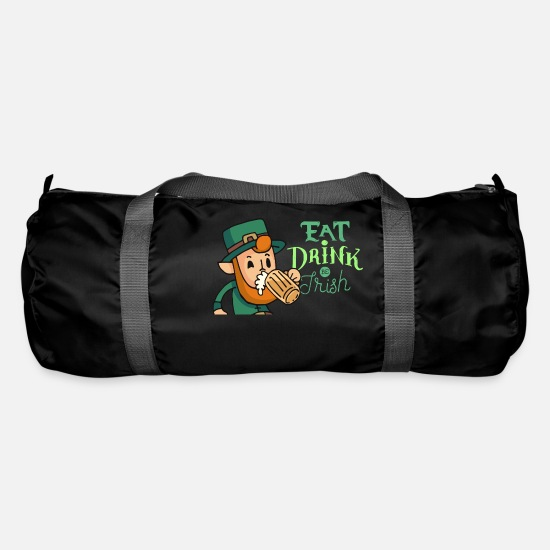 Gift Idea Bags & Backpacks - St Patricks Day Ireland Holiday Irish Gift - Duffle Bag black