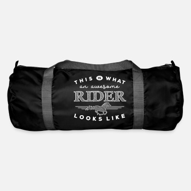 Pleite This is what an awesome rider looks like - weiß - Sporttasche