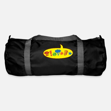 Speech Balloon Cursing bad words speech balloon - Duffle Bag