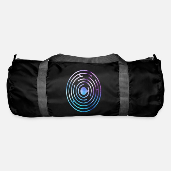 Circle Bags & Backpacks - Crop circles - Duffle Bag black