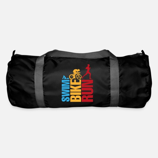 Bike Messenger Bags & Backpacks - swim bike run - Duffle Bag black