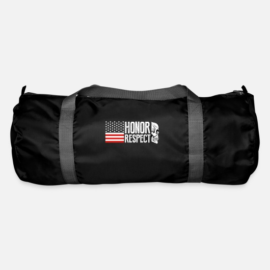 Army Bags & Backpacks - honor respect - Duffle Bag black