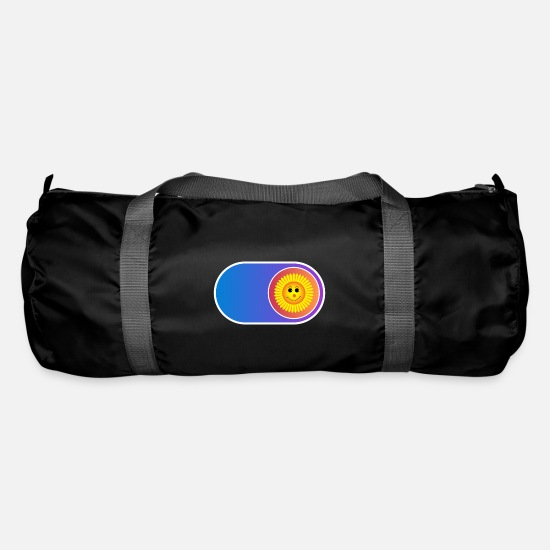Gift Idea Bags & Backpacks - Smile Button | Gift funny kids - Duffle Bag black