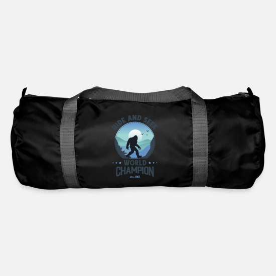 Bigfoot Kids Shirt Bags & Backpacks - Bigfoot Shirt Hide and Seek, Bigfoot Hide and - Duffle Bag black