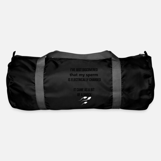 Cum Bags & Backpacks - Electrically charged sperm - Duffle Bag black