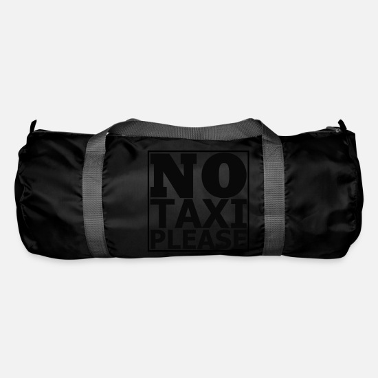 Calm Bags & Backpacks - No TAXI Please - Duffle Bag black