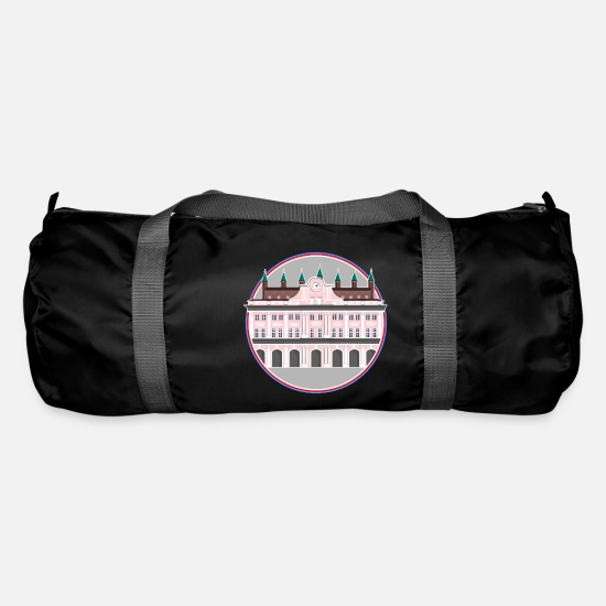 Pink Bags & Backpacks - Rostock Town Hall Poster - Duffle Bag black