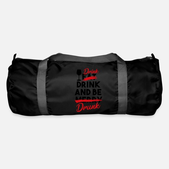 Happy New Year Bags & Backpacks - Drink Drink and be Drunk - Duffle Bag black