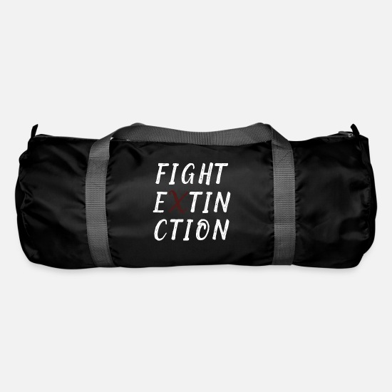 Gift Idea Bags & Backpacks - Fight extinction - Duffle Bag black