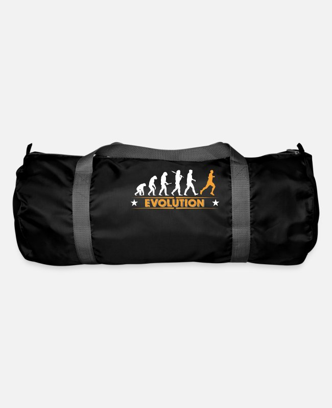 I Love Bags & Backpacks - Running Evolution - orange/weiss - Duffle Bag black