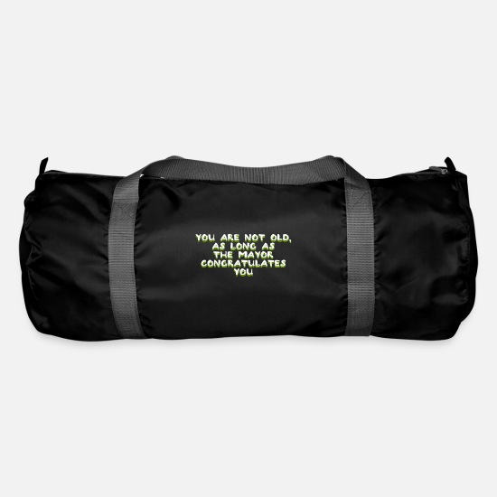 Birthday Bags & Backpacks - Age Aging Age Old Happy Birthday Funny - Duffle Bag black