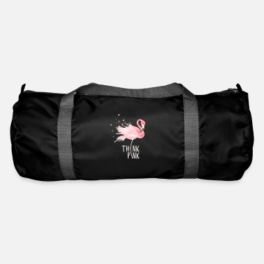 Think Pink Flamingo Love Think Pink Gift - Borsa sportiva