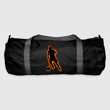 Pigskin Silhouette football orange and black outline - Duffel Bag