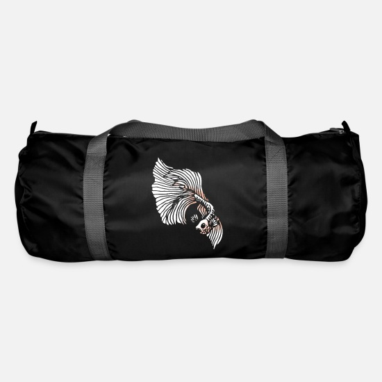 Sayings Bags & Backpacks - Betta Splendens fighting fish labyrinth fish gift - Duffle Bag black