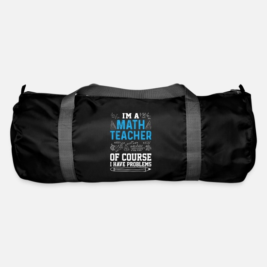 Calculator Bags & Backpacks - math teacher - Duffle Bag black