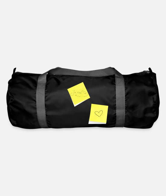 Office Bags & Backpacks - I love you, sticky notes, sticky notes, notes - Duffle Bag black