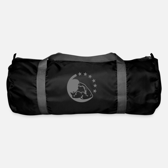 Body Building Bags & Backpacks - Bodybuilding arm biceps logo - Duffle Bag black