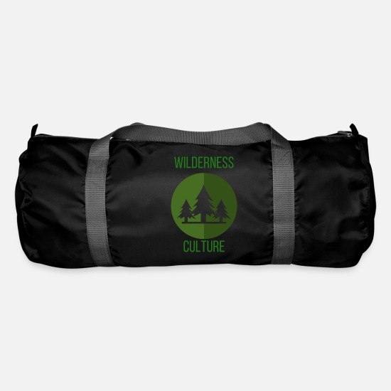 Camping Bags & Backpacks - Wilderness Culture Wilderness Culture Trees Gift - Duffle Bag black