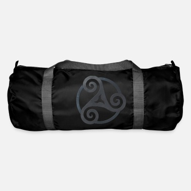 Celtic Triskele punched black celtic symbol - Duffle Bag