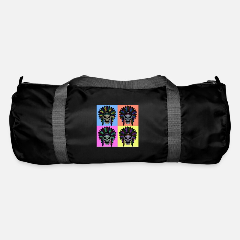 Cool Bags & Backpacks - Feathers on the head - Duffle Bag black