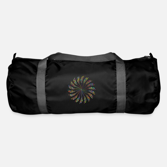 Rain Bags & Backpacks - rainbow sun clouds weather rainbow sun cloud30 - Duffle Bag black