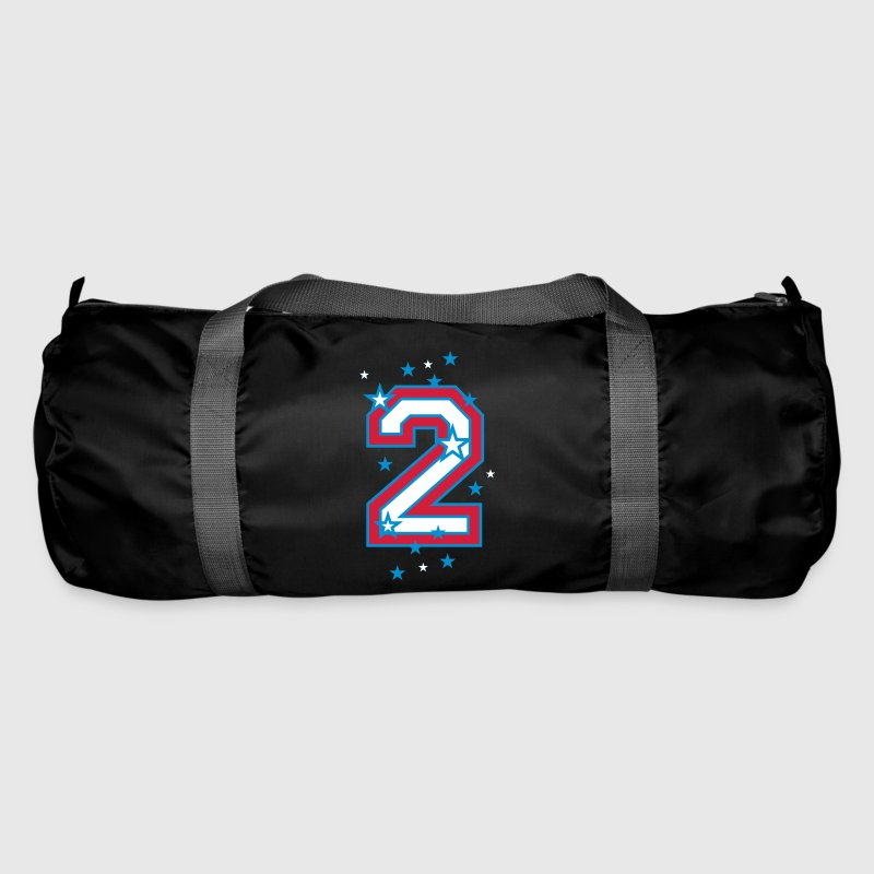 The number 2 and stars - Duffel Bag