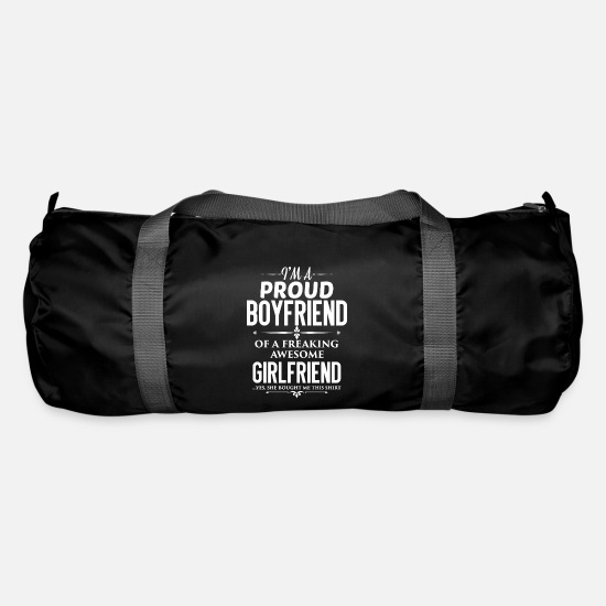 Girlfriend Bags & Backpacks - Boyfriend - Boyfriend - Gift - Duffle Bag black
