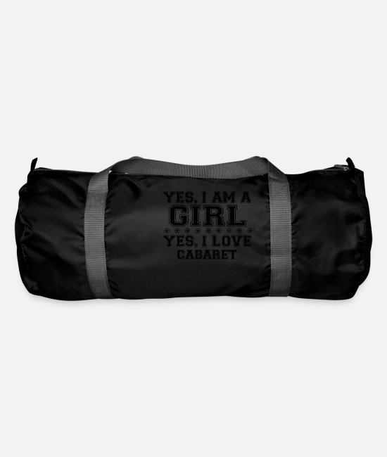 Birthday Bags & Backpacks - yes gift on a girl love bday gift CABARET - Duffle Bag black