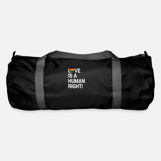 Pride Bags & Backpacks - Love is a human right - Duffle Bag black