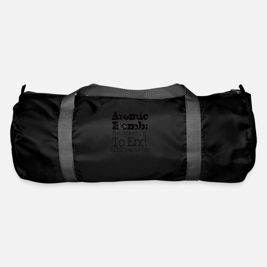 Wind Energy Bags & Backpacks - International Day against Nuclear Tests - Duffle Bag black