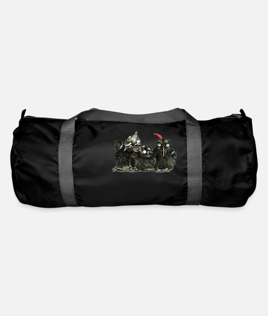 Raven Bags & Backpacks - three young crows - Duffle Bag black