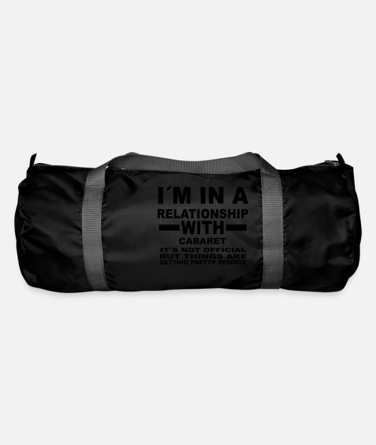 Birthday Bags & Backpacks - gift, gift, birthday, relationship, cABARET - Duffle Bag black