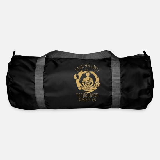 Space Bags & Backpacks - Do not leave see you, the whole universe is in you - Duffle Bag black