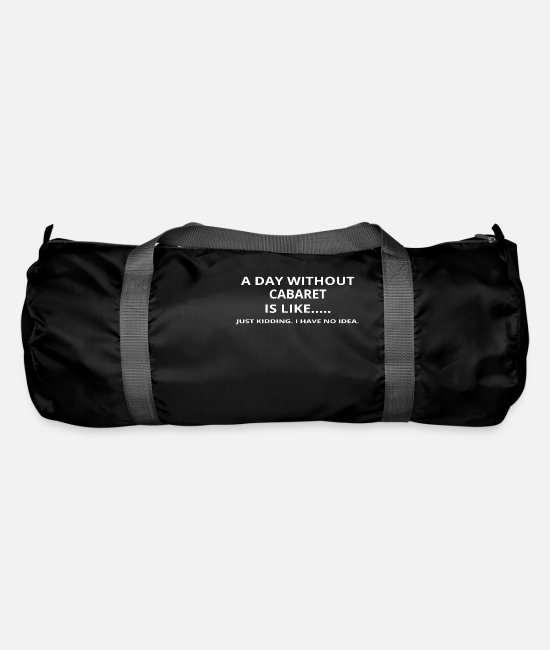 Love Bags & Backpacks - day without gift gift love cabaret - Duffle Bag black