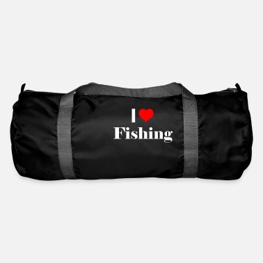 Sport Fishermen I love fishing - gift idea for sport fishermen - Duffle Bag