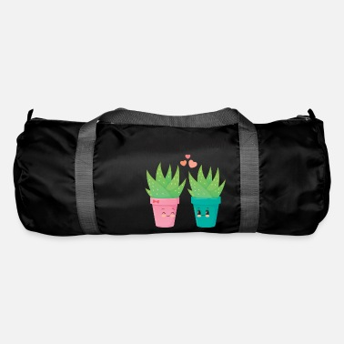 Funny Sayings Aloe You Vera Much - Cute Love Couple Gift Idea - Duffle Bag
