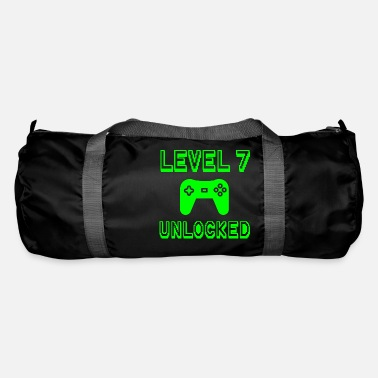 Party Level 7 Unlocked Gamer Seventh 7th Birthday Gift - Duffle Bag