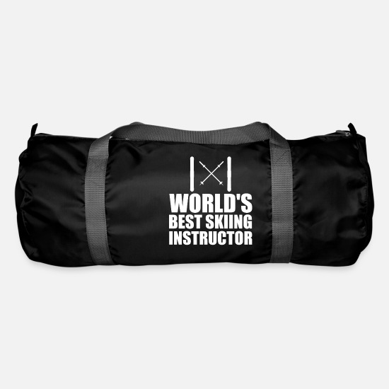 Gift Idea Bags & Backpacks - Ski Worlds Best Skiing Instructor gift idea - Duffle Bag black