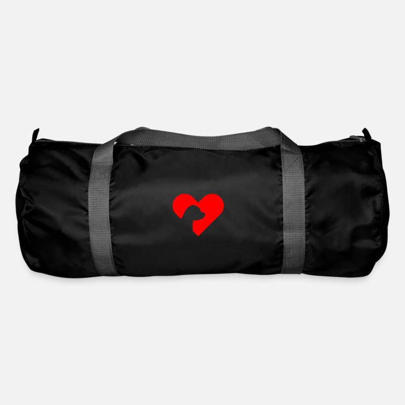 Terrier Bags & Backpacks - Jack Russel Terrier gift shadow motif heart - Duffle Bag black