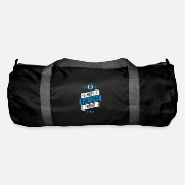 Fathers Day Most Awesome father - fathers day - Duffle Bag