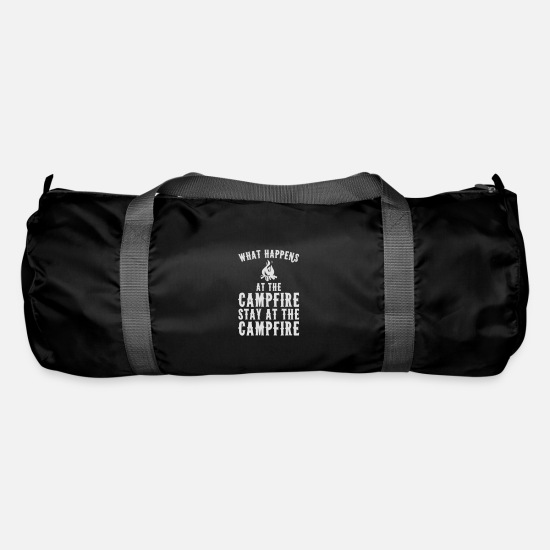 Travel Bags & Backpacks - What happens at the campfire stays at the campfire - Duffle Bag black