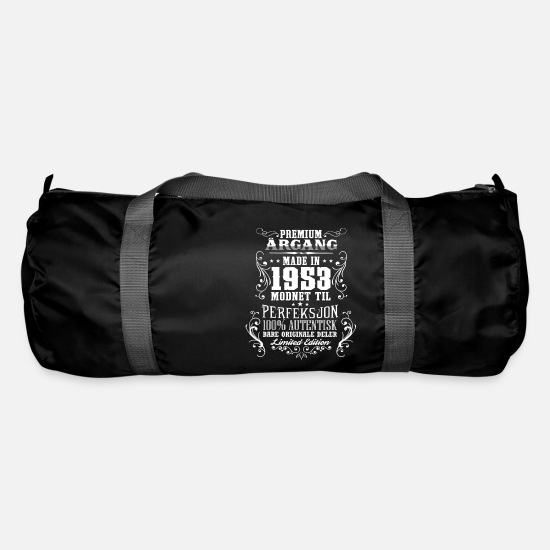 Birthday Bags & Backpacks - 1953 65 premium årgang bursdag gave NO - Duffle Bag black