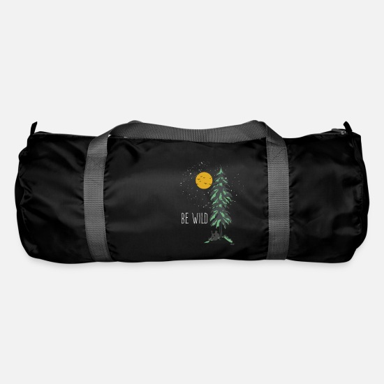 Mountains Bags & Backpacks - Be Wild Wilderness - Duffle Bag black