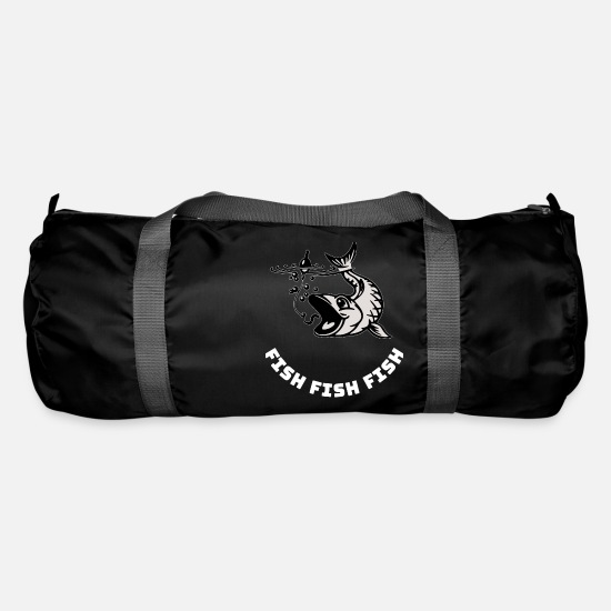 Smutje Bags & Backpacks - fish fish fish - Duffle Bag black