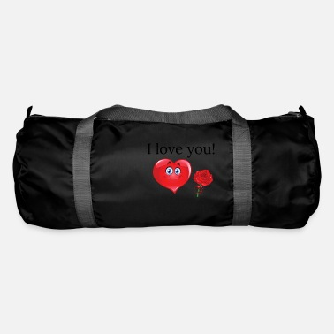 Ich liebe dich! Roses with heart and love! - Duffle Bag